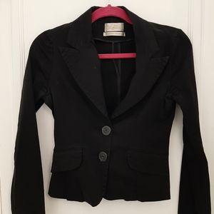 Costa Blanca black stretch 3 button blazer. Sz M